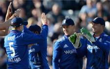England cricket team celebrates wicket against New Zealand in the first game of the series at Edgbaston on 9 June 2015. Picture: England Cricket official Facebook page.