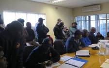 FILE: Marako Daniel Motsoeneng, was joined by firefighters from the greater Johannesburg area to find solutions to their dire working conditions on 11 June 2015. Picture: Louise McAuliffe/EWN.