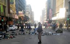 FILE: The South African Police Service and Johannesburg Metro Police Department clashed with protesters in the central Johannesburg on Thursday, 1 August 2019. Picture: IntelligenceBureauSA/Facebook