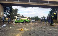 At least 15 people were killed in the Randfontein crash on the R4. Picture: Emily Corke/EWN.