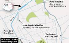 This graphic shows how the attack on Charlie Hebdo's office unfolded. Graphic: AFP
