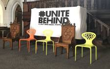 Organisations under the #UniteBehind umbrella hold a mass meeting at the Greenmarket Square in Cape Town. Picture: Monique Mortlock/EWN.
