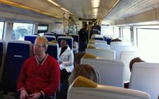 Passengers inside the Gautrain. Picture: Eyewitness News