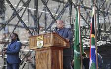 President Jacob Zuma addresses the crowd during Youth Day celebrations at Orlando stadium in Soweto on 16 June 2016. Picture: Reinart Toerien/EWN.