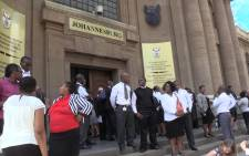 The Johannesburg High Court was evacuated on Monday following a bomb threat during sentencing proceedings of Radovan Krejcir. Picture: Vumani Mkhize/EWN.