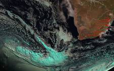 A cold front is expected to hit Cape Town from Tuesday 6 June 2017. Picture: @SAWeatherServic/Twitter.