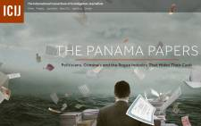 A screengrab of the International Consortium of Investigative Journalists website where it unpacks the details of the 'Panama Papers'.