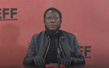 A YouTube video screengrab of EFF leader Julius Malema speaking to journalists 25 June 2020 in Johannesburg.