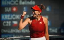Switzerland's Belinda Bencic is through to the women's tennis final at the Olympics. Picture: @BelindaBencic/Twitter.