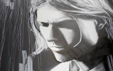 Kurt Cobain (Nirvana) - street art by unidentified artist (Adelaide, Australia)