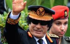 The late Libyan president, Muammar Gaddafi. Picture: AFP.