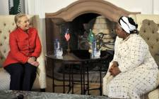 US Secretary of State Hillary Clinton meets with newly-elected AU Chairperson and Home Affairs Minister Nkosazana Dlamini-Zuma in Pretoria on Tuesday, 7 August 2012. Picture: GCIS.