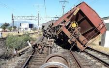 The good train that derailed on Cape Town's northern line on 10 December 2018. Picture: Supplied