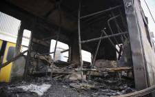 FILE: Five carriages caught alight at Retreat station on 27 July 2018. Picture: Cindy Archillies/EWN.