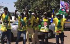 Zanu-PF supporters at the last rally before the elections. Picture: Masechaba Sefularo/EWN
