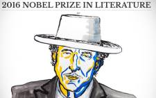 FILE: The 2016 Nobel Prize in Literature has been awarded to Bob Dylan for having created new poetic expressions within the great American song tradition. Picture: Twitter/@NobelPrize.