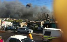Three people were killed in a fire in Khayelitsha's BM Section, outside Cape Town on 1 January 2013. Picture: Shamiela Fisher/EWN