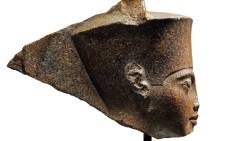 An undated handout picture released by the auction house Christie's in London on 26 June 2019, shows a 3,000-year-old stone bust of Tutankhamun. Picture: AFP