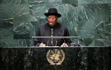 Nigerian President Goodluck Jonathan. Picture: EPA.