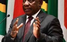 President Cyril Ramaphosa. Picture: @PresidencyZA/Twitter