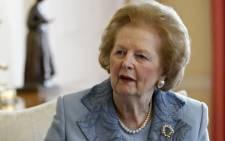 Former Prime Minister Baroness Margaret Thatcher. Picture: AFP