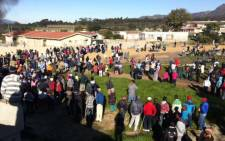 Angry residents of Botrivier outside Hermanus in the Cape protesting the delivery of only four RDP houses.