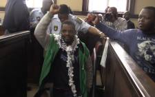 Mcebo Dlamini will remain behind bars after being denied bail at the Johannesburg Magistrates Court. Picture: Kgothatso Mogale/EWN