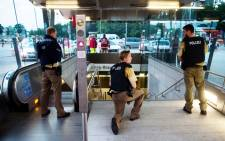 Police secures the entrance to a subway station near a shopping mall where a shooting took place on 22 July 2016 in Munich. Several people were killed on Friday in a shooting rampage by a lone gunman in a Munich shopping centre, media reports said. Picture: AFP