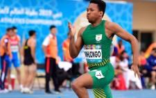 FILE: SA para-athlete Mpumelelo Mhlongo competing at the  World Para Athletics Championships, Dubai, 2019. Picture: Athletics Africa.