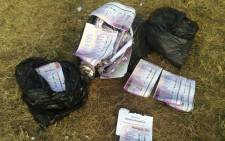 The IEC says it is investigating the authenticity of reports that bags of ballot papers were discovered in a park in Lynnwood Ridge in Pretoria. Picture: iWitness.