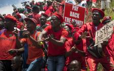 FILE: Hundreds of EFF members marched through Johannesburg to the Constitutional Court.  Picture: Reinart Toerien/EWN.