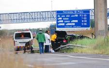 Officials at a scene of a car accident. Picture: EWN