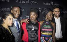 Queen of Katwe cast and creators: (L-R) Director Mira Nair, character Robert Katende, character Phiona Mutesi, actress Lupita Nyong'o, and film sound designer Zohran Mamdani. Picture: Thomas Holder/EWN