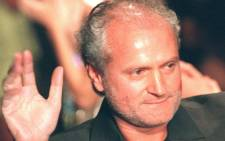 """This file photo dated 06 July 1997 shows Italian designer Gianni Versace during the presentation of the """"Atelier"""" collection at Paris. Picture: AFP"""