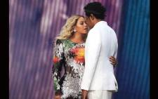 Beyoncé and Jay-Z performing at the Stade de France after the screening the World Cup final. Picture: @RocNation/Twitter.