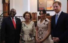 The Duke and Duchess of Sussex wrapped up their tour of South Africa by paying a visit to President Cyril Ramaphosa and first lady Dr Tshepo Motsepe at their Pretoria residence on 2 October 2019. Picture: Kayleen Morgan/EWN