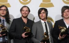 The Kings of Leon pose with their awards at the 52nd annual Grammy Awards in Los Angeles on January 31, 2010. Photo: AFP.