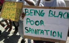 Residents protest for basic sanitation. Picture: Lauren Isaacs/EWN