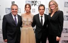 """New York: Jim Gianopulos, Kristen Wiig, Ben Stiller and Emma Watts attend the Centerpiece Gala Presentation Of """"The secret life Of Walter Mitty"""" during the 51st New York Film Festival. Picture: AFP"""