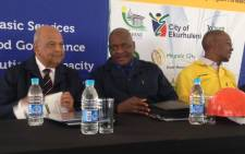 "FILE: Gauteng Premier David Makhurahas launched the department's 'Back to Basics' campaign"" in Diepsloot. Picture: GCIS."