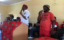 Economic Freedom Fighters (EFF) leader Julius Malema in Nquthu, KwaZulu-Natal. Picture: @EFFSouthAfrica/Twitter