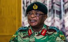 Zimbabwe Army General Constantino Chiwenga Commander of the Zimbabwe Defence Forces addresses a media conference held at the Zimbabwean Army Headquarters on 13 November 2017 in Harare. Picture: AFP