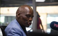 African Content Movement leader Hlaudi Motsoeneng in studio with Eusebius McKaiser. Picture: Kayleen Morgan/EWN