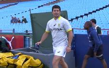 Springbok player Morne Steyn at the team's practice on 13 August 2014 ahead of their clash with Argentina in the Rugby Championship. Picture: EWN