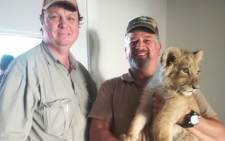Police rescued a lion cub in Athlone, Cape Town. Picture: SAPS