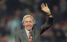 FILE: In this file photo taken on 27 October 2015 Former England international footballer Gordon Banks waves to the fans ahead of the English League Cup fourth round football match between Stoke City and Chelsea at the Britannia Stadium in Stoke-on-Trent, central England on 27 October 2015. Picture: AFP