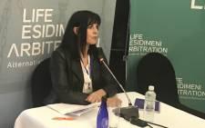 Sandra de Villiers at the Esidimeni arbitration hearings in Parktown, Johannesburg on 18 October 2017. Picture: Masego Rahlaga/EWN.