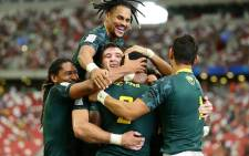 SA celebrates victory win against Fiji. Picture: @SuperSportTV/Twitter