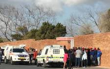 FILE: This file photo shows police on scene in Bishop Lavis on 20 July where a man was gunned down. Picture: Kevin Brandt/EWN
