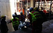FILE: Two people were injured after a structural collapse at a construction site in Sandton collapsed on 15 November 2016. Picture: Supplied.